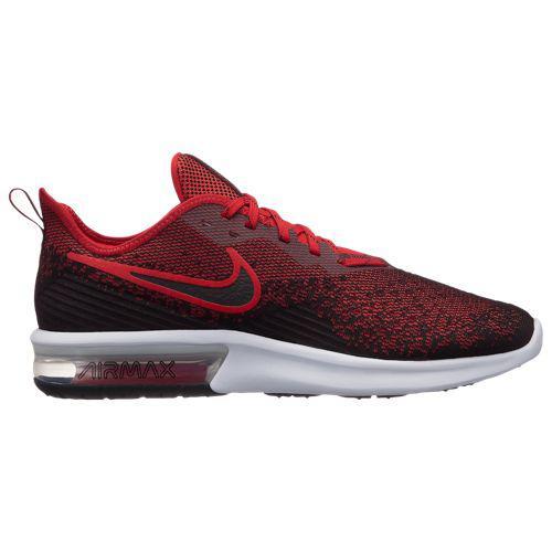 (取寄)ナイキ メンズ エア マックス シークエント 4 Nike Men's Air Max Sequent 4 Black Black University Red University Red