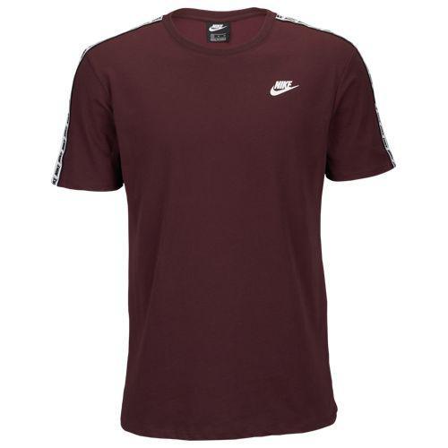 (取寄)ナイキ メンズ リピート Tシャツ Nike Men's Repeat T-Shirt Burgundy Crush White