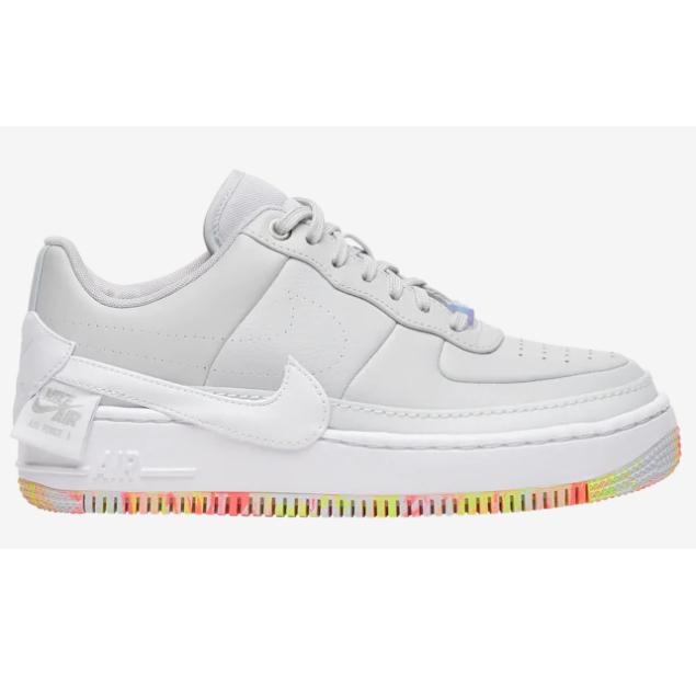 (取寄)ナイキ レディース エア フォース 1 ジェスター Nike Women's Air Force 1 Jester Pure Platinum White Yellow Pulse