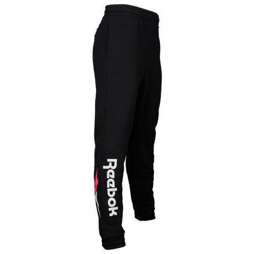 (取寄)リーボック メンズ サイド ロゴ フリース パンツ Reebok Men's Side Logo Fleece Pants Black