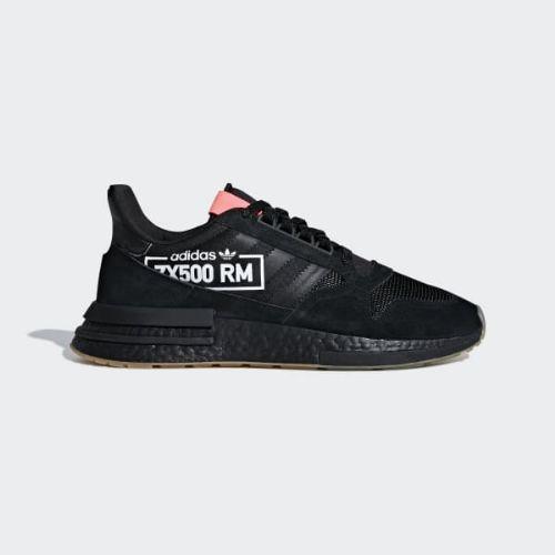 (取寄)アディダス オリジナルス メンズ ゼットエックス 500RM シューズ adidas originals Men's ZX 500 RM Shoes Core Black / Core Black / Flash Red