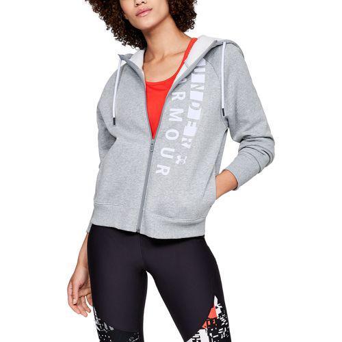 (取寄)アンダーアーマー レディース フルジップ ロゴ フーディ Underarmour Women's Full-Zip Logo Hoodie Steel Light Heather