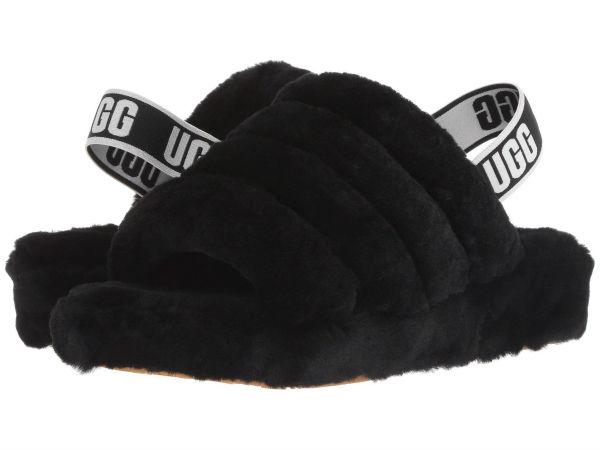 (取寄)アグ レディース フラフ イヤー スライド UGG Women Fluff Yeah Slide Black