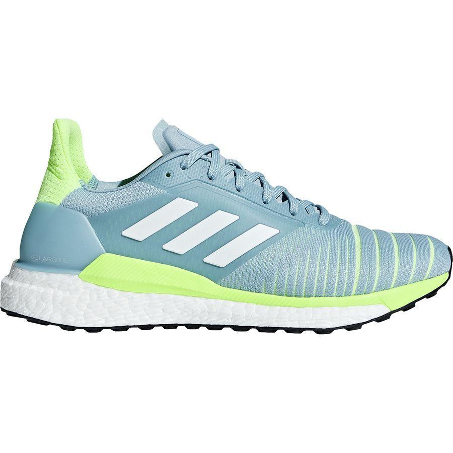 (取寄)アディダス レディース ソーラー グライド ブースト ランニングシューズ Adidas Women Solar Glide Boost Running Shoe Ash Grey S18/Footwear White/Hi-res Yellow