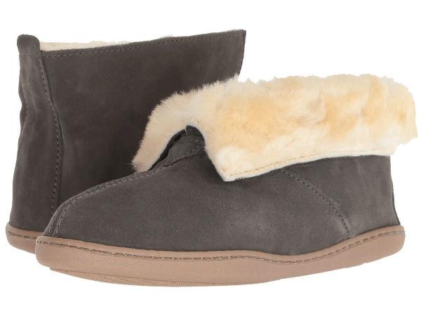 (取寄)ミネトンカ レディース シープスキン アンクル Minnetonka Women Sheepskin Ankle Grey Suede