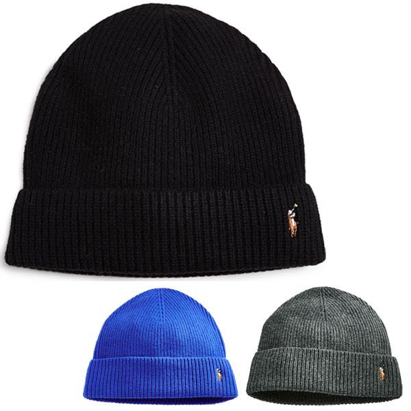 ポロラルフローレンニットキャップシグニチャーメリノカフハット hat Polo Ralph Lauren Signature Merino Cuff  Hat PoloBlack 9a77c316fa2