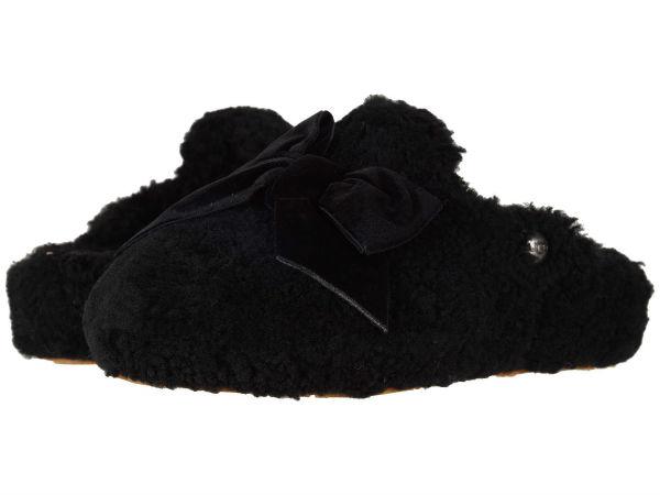 (取寄)アグ レディース サンダル アディソン ベルベット ボウ スリッパ UGG Women Addison Velvet Bow Slipper Black