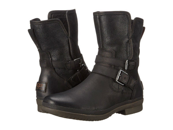 (取寄)アグ レディース Simmens UGG Women Simmens Black Leather