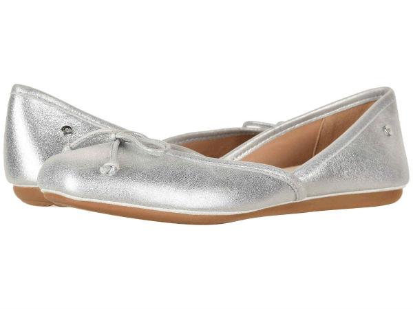 (取寄)アグ レディース レナ フラット UGG Women Lena Flat Silver