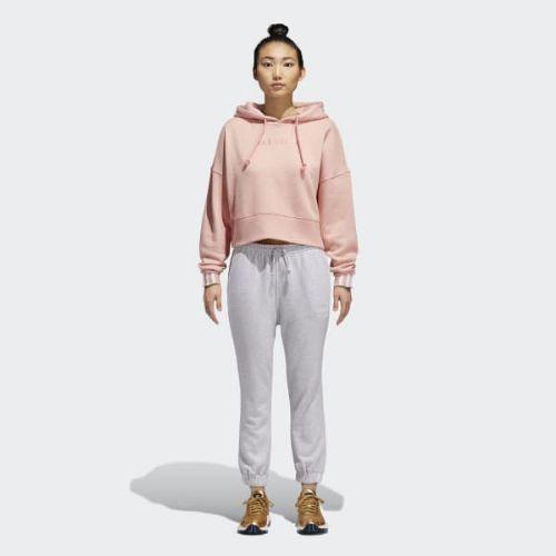 (取寄)アディダス オリジナルス レディース Coeeze クロップド パーカー adidas originals Women Coeeze Cropped Hoodie Trace Pink Mel