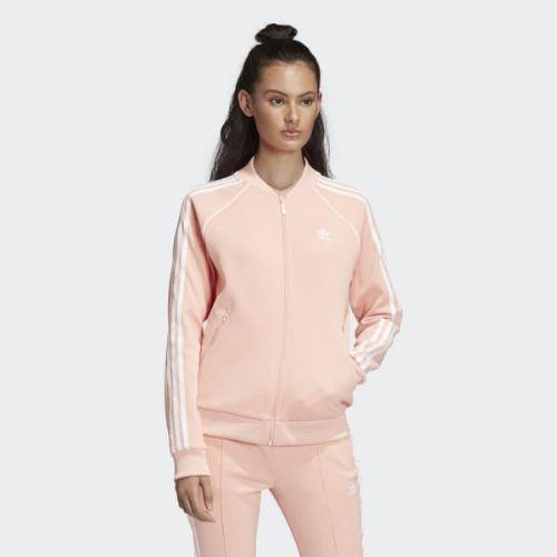(取寄)アディダス オリジナルス レディース SST トラック ジャケット adidas originals Women SST Track Jacket Dust Pink