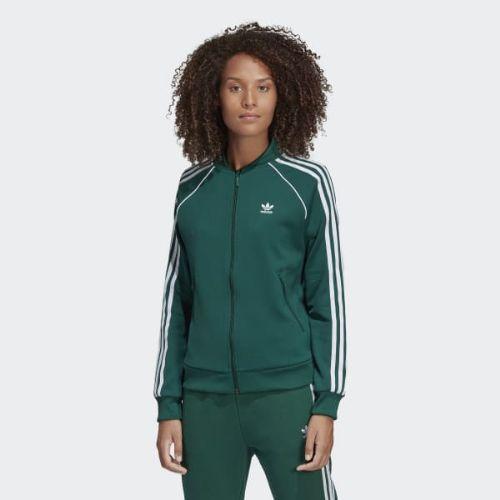 (取寄)アディダス オリジナルス レディース SST トラック ジャケット adidas originals Women SST Track Jacket Collegiate Green