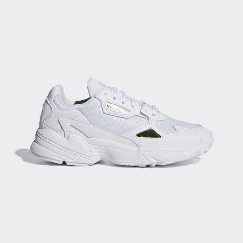 (取寄)アディダス オリジナルス レディース ファルコン シューズ adidas originals Women Falcon Shoes Cloud White / Cloud White / Gold Metallic