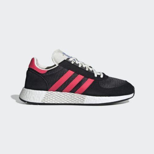 (取寄)アディダス オリジナルス メンズ マラソン テック シューズ adidas originals Men's Marathon Tech Shoes Carbon / Shock Red / Core Black