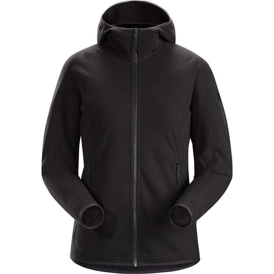 【マラソン ポイント10倍】(取寄)アークテリクス レディース デルタ LT フーデッド フリース ジャケット Arc'teryx Women Delta LT Hooded Fleece Jacket Black