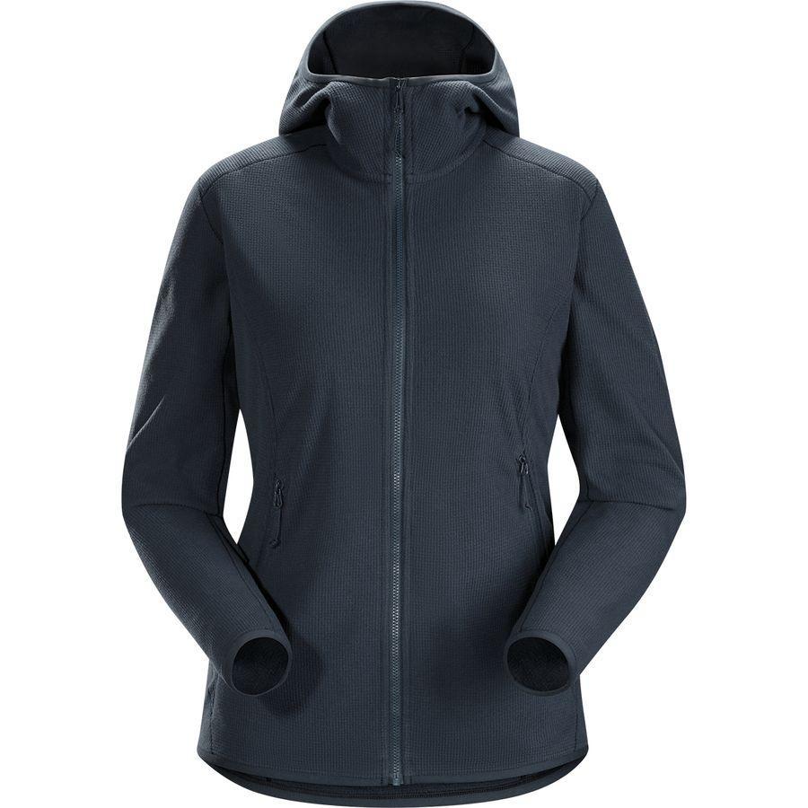 (取寄)アークテリクス レディース デルタ LT フーデッド フリース ジャケット Arc'teryx Women Delta LT Hooded Fleece Jacket Black Sapphire
