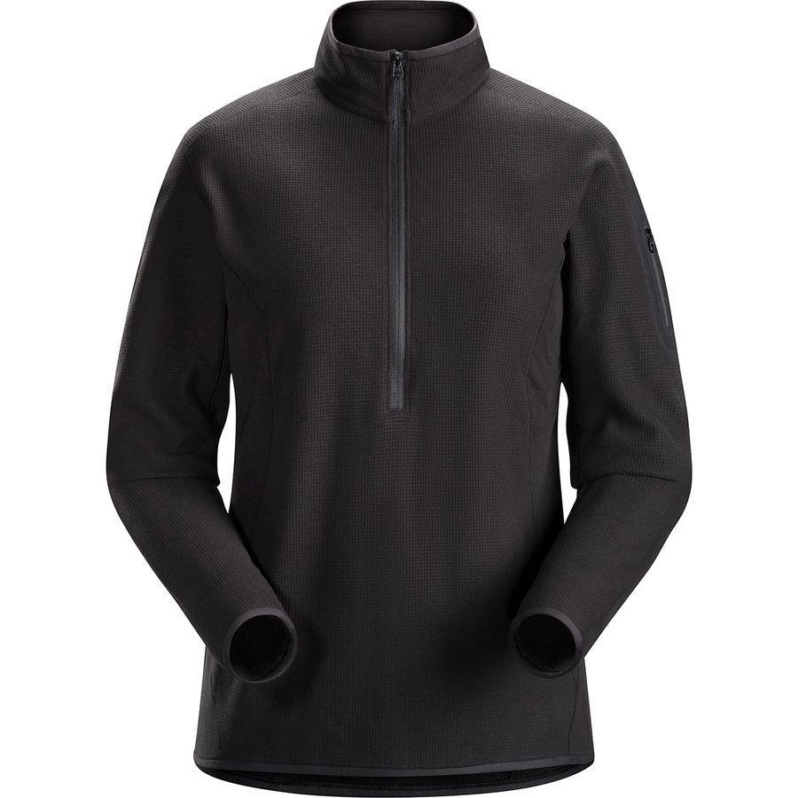 (取寄)アークテリクス レディース デルタ LT フリース 1/2-Zip プルオーバー Arc'teryx Women Delta LT Fleece 1/2-Zip Pullover Black