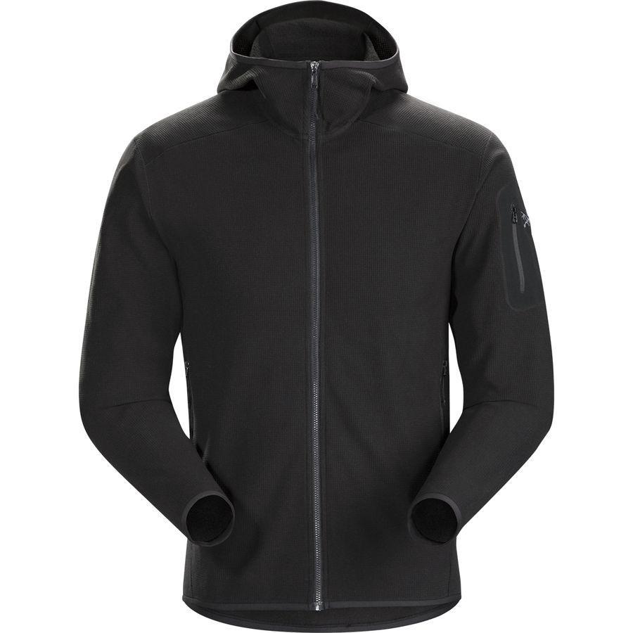 【マラソン ポイント10倍】(取寄)アークテリクス メンズ デルタ LT フーデッド フリース ジャケット Arc'teryx Men's Delta LT Hooded Fleece Jacket Black