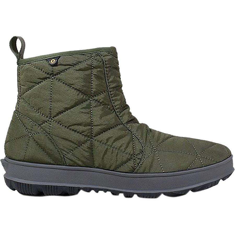 (取寄)ボグス レディース スノウデイ ロウ ブーツ Bogs Women Snowday Low Boot Dark Green