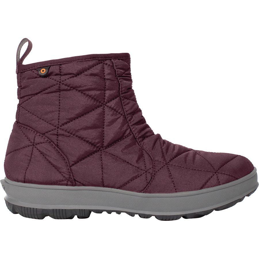 (取寄)ボグス レディース スノウデイ ロウ ブーツ Bogs Women Snowday Low Boot Wine