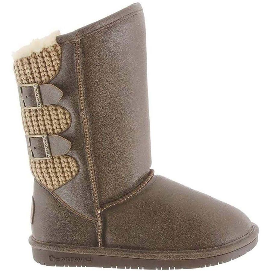 (取寄)ベアパウ レディース Boshie ブーツ Bearpaw Women Boshie Boot Chestnut Distressed