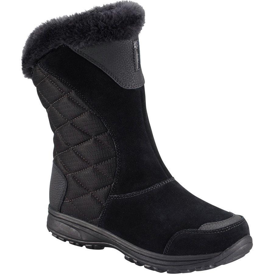 (取寄)コロンビア レディース アイス メイデン 2 スリップ オン ブーツ Columbia Women Ice Maiden II Slip On Boot Black/Shale