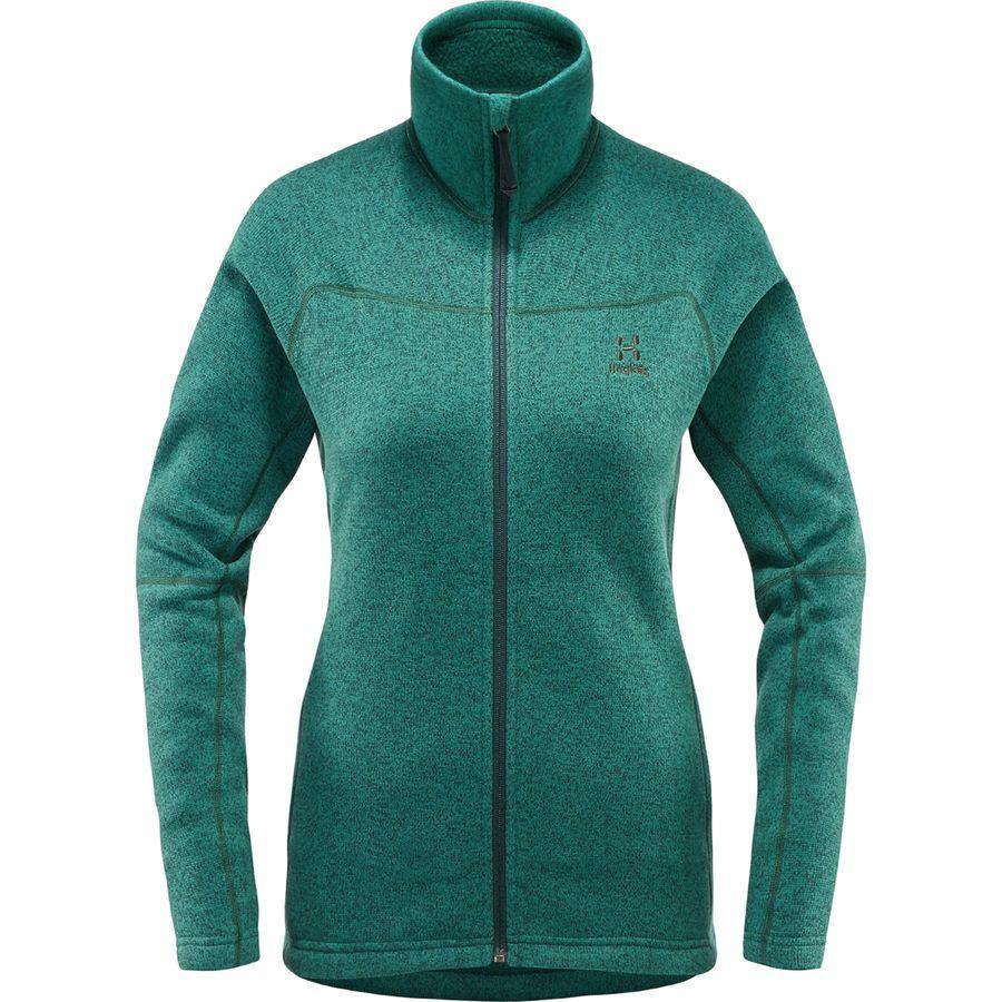 (取寄)ホグロフス レディース Swook フリース ジャケット Haglofs Women Swook Fleece Jacket Mineral Solid