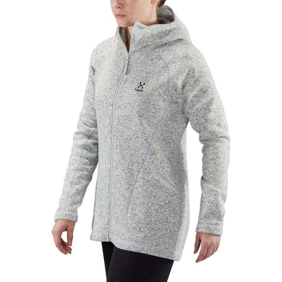 (取寄)ホグロフス レディース サガ フーデッド フリース ジャケット Haglofs Women Saga Hooded Fleece Jacket Haze