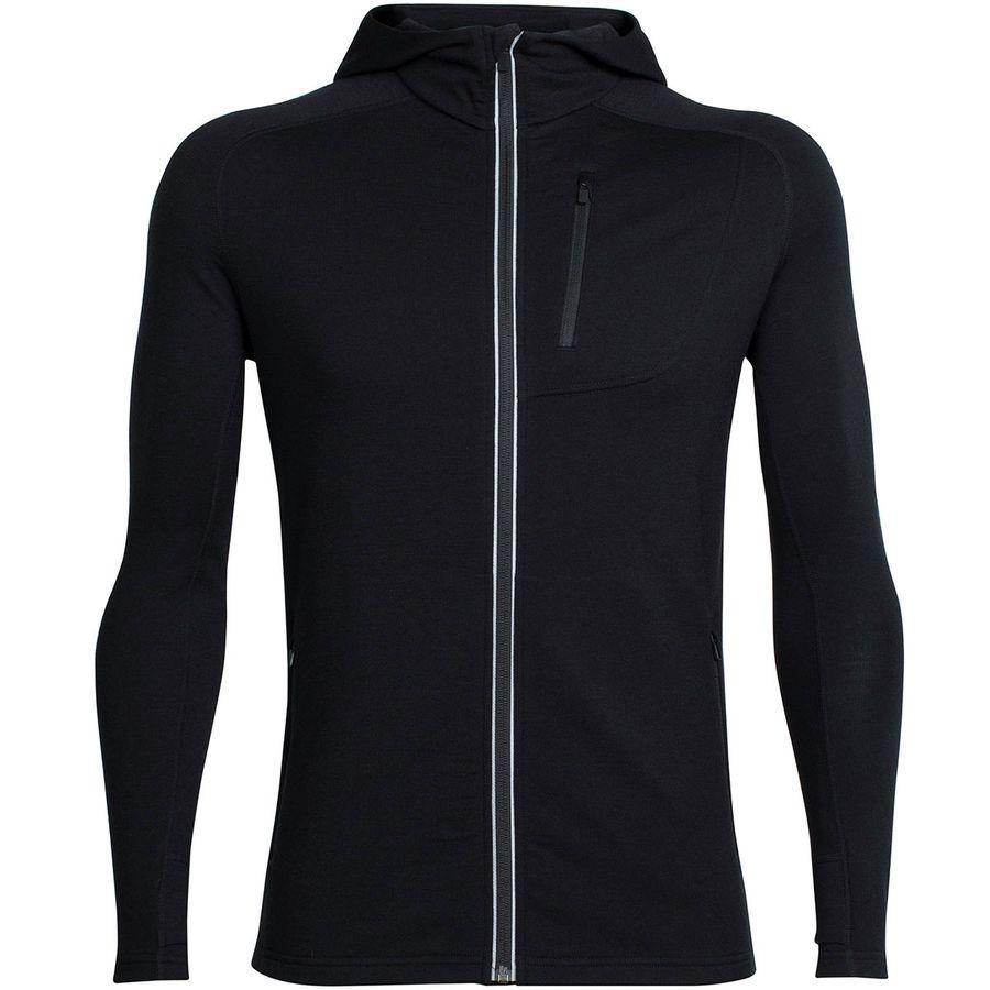 (取寄)アイスブレーカー メンズ クァンタム フーデッド フルジップ シャツ Icebreaker Men's Quantum Hooded Full-Zip Shirt Black