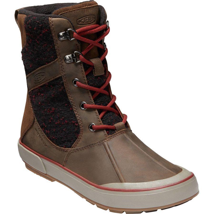 (取寄)キーン レディース エルサ 2 ウール ブーツ KEEN Women Elsa II Wool Boot Cascade Brown/Fired Brick