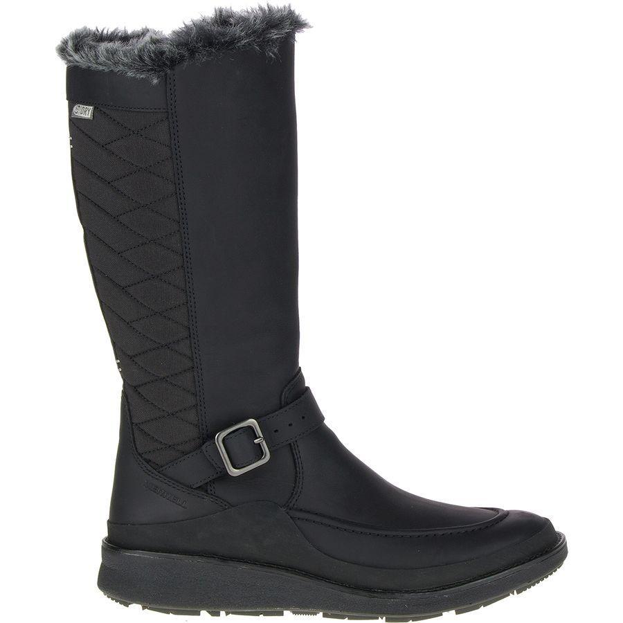 (取寄)メレル レディース トランブラン エズラ トール アイス+ ブーツ Merrell Women Tremblant Ezra Tall Ice+ Boot Black