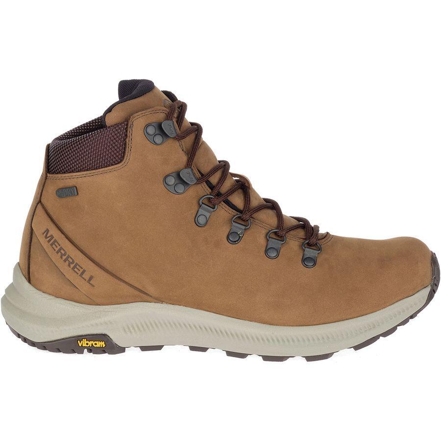 【マラソン ポイント10倍】(取寄)メレル メンズ オンタリオ ミッド ハイキング ブーツ Merrell Men's Ontario Mid Hiking Boot Dark Earth