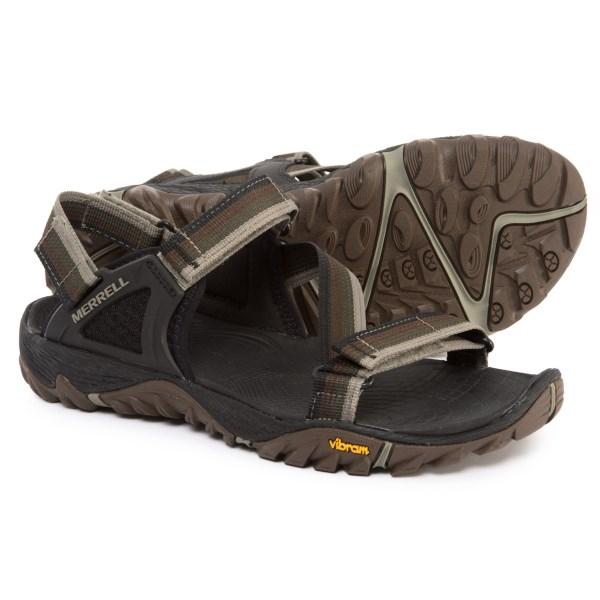 (取寄)メレル メンズ オール アウト ブレイズ ウェブ スポーツ サンダル Merrell Men's All Out Blaze Web Sport Sandals Dusty Olive