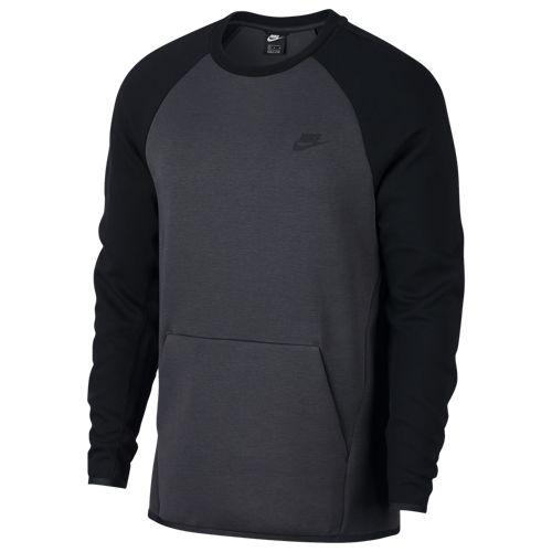 (取寄)ナイキ メンズ メンズ テック Men's フリース クルー Nike Men's Tech Anthracite Fleece Crew Anthracite Black Black, 塩江町:e649d85d --- m2cweb.com
