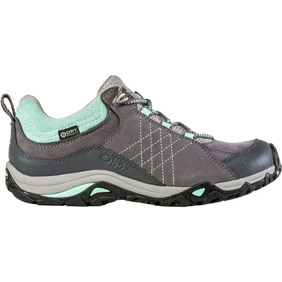 (取寄)オボズ レディース サファイア ロウ B-Dry ハイキングシューズ Oboz Women Sapphire Low B-Dry Hiking Shoe Charcoal/Beach Glass