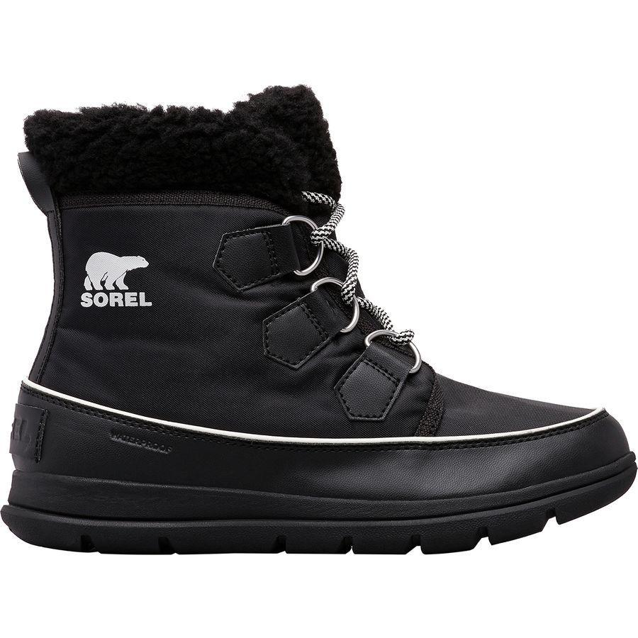 (取寄)ソレル レディース エクスプローラ カーニバル ブーツ Sorel Women Explorer Carnival Boot Black/Sea Salt