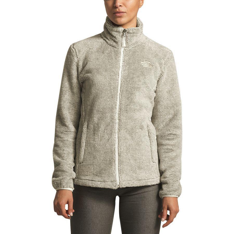 (取寄)ノースフェイス レディース Osito 2 フリース ジャケット The North Face Women Osito 2 Fleece Jacket Silt Grey/Vintage White Stripe