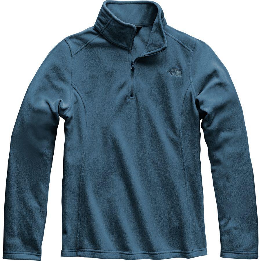 (取寄)ノースフェイス レディース グレイシャー 1/4-Zip フリース プルオーバー The North Face Women Glacier 1/4-Zip Fleece Pullover Blue Wing Teal