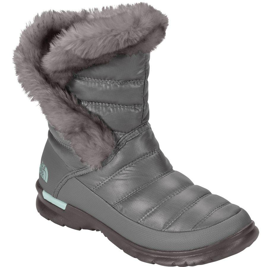 (取寄)ノースフェイス レディース ThermoBall マイクロバッフル ブーティー 2 ブーツ The North Face Women ThermoBall Microbaffle ie II Boot Shiny Frost Grey/Blue Haze