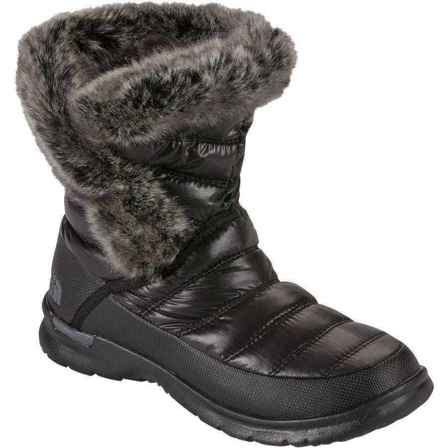 (取寄)ノースフェイス レディース ThermoBall マイクロバッフル ブーティー 2 ブーツ The North Face Women ThermoBall Microbaffle ie II Boot Shiny Tnf Black/Smoked Pearl Grey