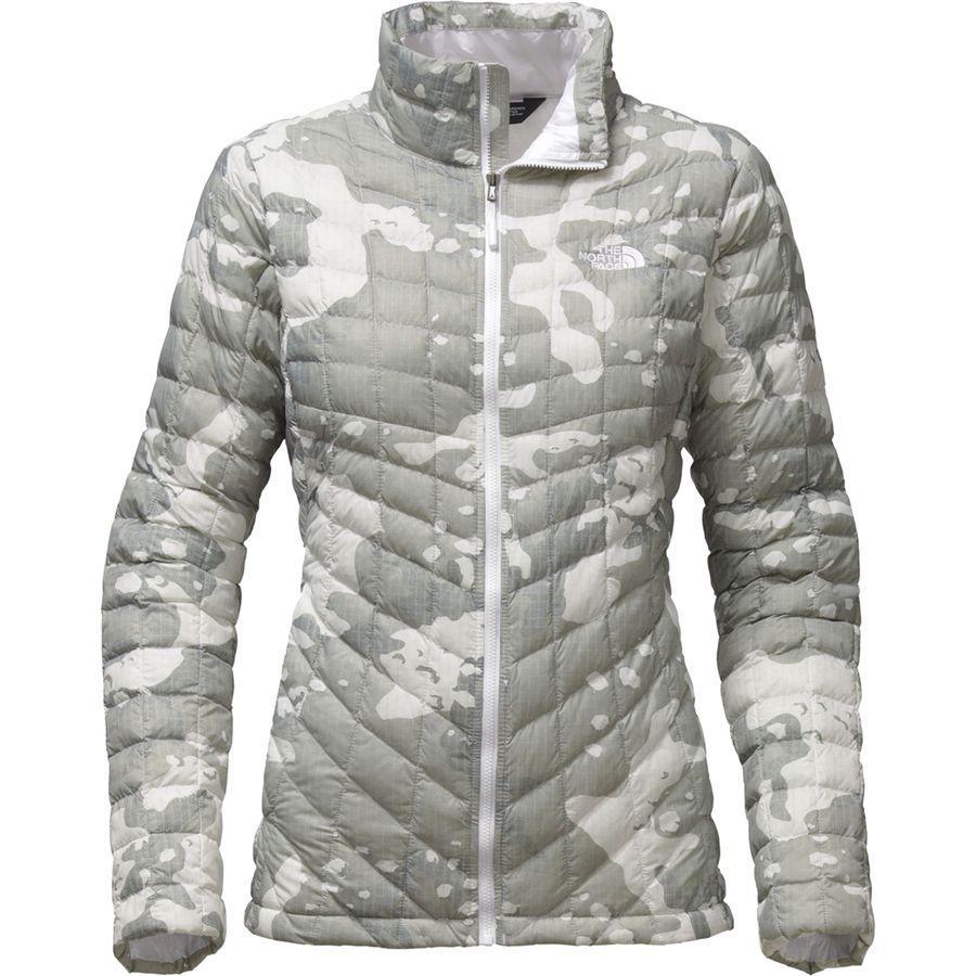 (取寄)ノースフェイス レディース ThermoBall インサレーテッド ジャケット The North Face Women ThermoBall Insulated Jacket Tnf White Woodchip Print