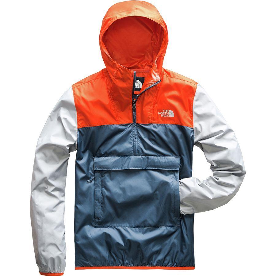 (取寄)ノースフェイス メンズ Fanorak ウィンドブレーカー The North Face Men's Fanorak Windbreaker Shady Blue/Zion Orange/High Rise Grey