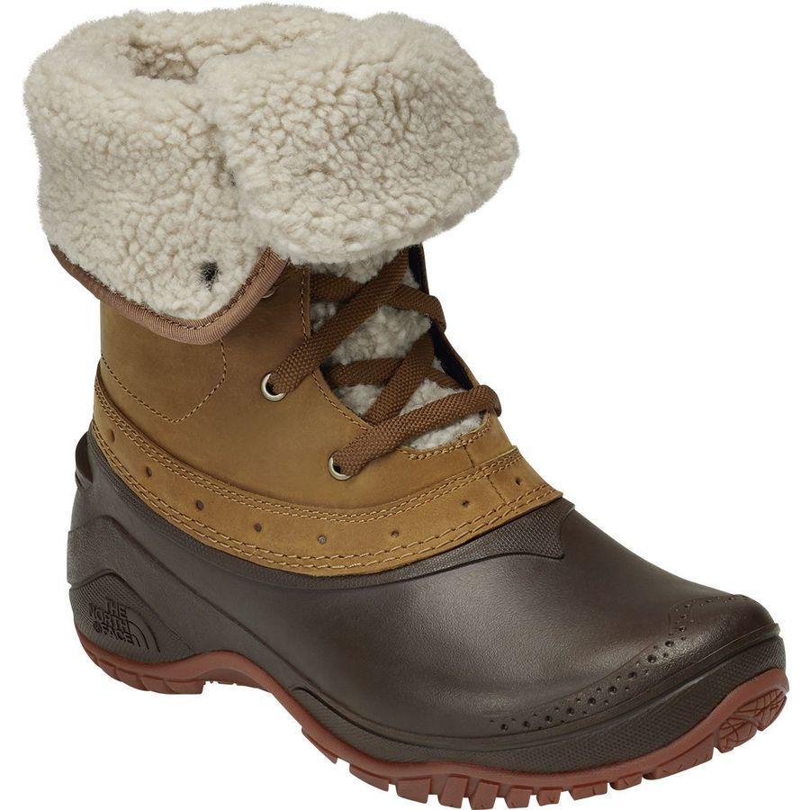 (取寄)ノースフェイス レディース シェリスタ Roll-Downウィンター ブーツ The North Face Women Shellista Roll-Down Winter Boot Golden Brown/Coffee Bean Brown