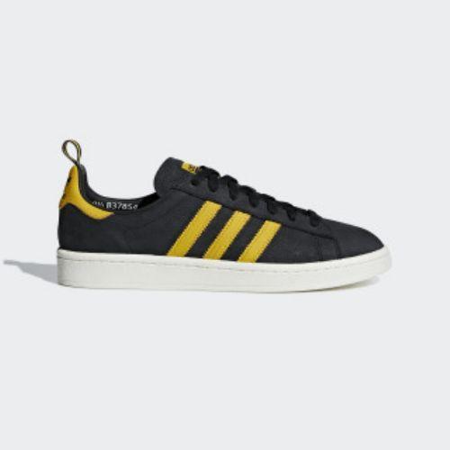 アディダス オリジナルス スニーカー メンズ キャンパス シューズ adidas originals Men's Campus Shoes Core Black / Eqt Yellow / Chalk White