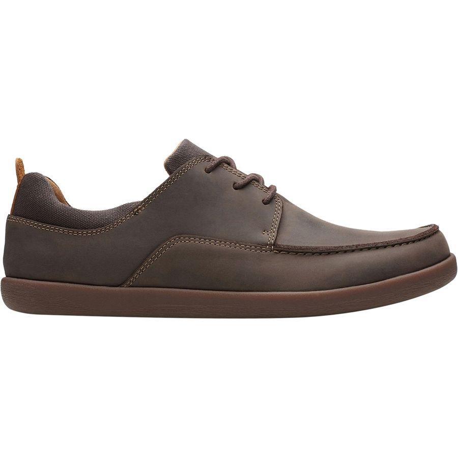 (取寄)クラークス メンズ Unリスボン レース シューズ Clarks Men's Un Lisbon Lace Shoe Brown Leather/Canvas Combi