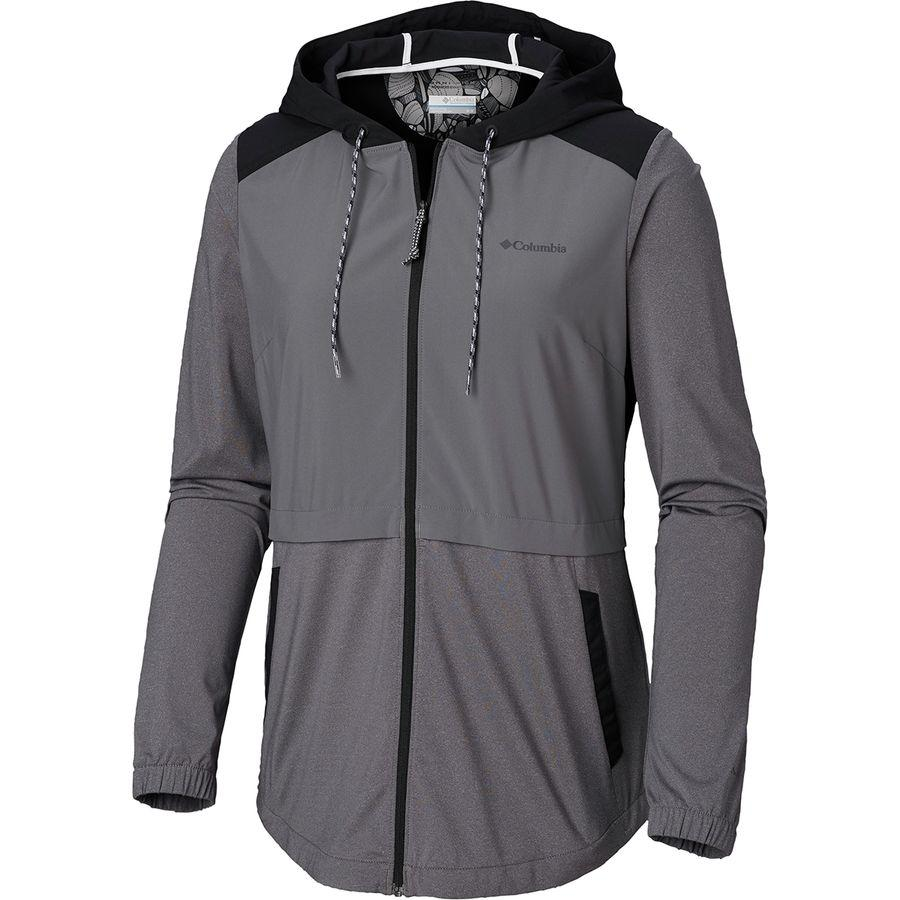 (取寄)コロンビア レディース サンディ トレイル フルジップ ジャケット Columbia Women Sandy Trail Full-Zip Jacket City Grey/Black/City Grey Heather