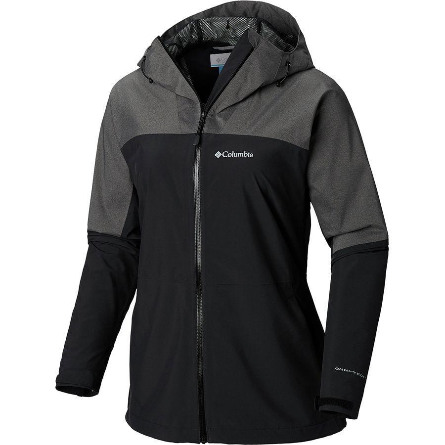 (取寄)コロンビア レディース エボリューション ヴァリー 2 ジャケット Columbia Women Evolution Valley II Jacket Black/Charcoal Heather