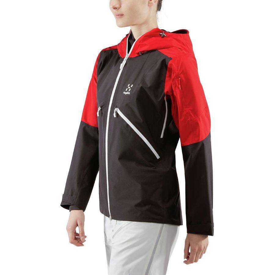 (取寄)ホグロフス レディース キオーネ ジャケット Haglofs Women Khione Jacket Slate/Rich Red