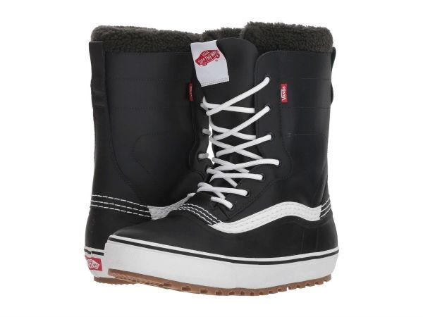 【クーポンで最大2000円OFF】(取寄)Vans(バンズ) スノーブーツ スタンダード スノー '18 メンズ Vans Men's Standard Snow '18 Black/White【outdoor_d19】