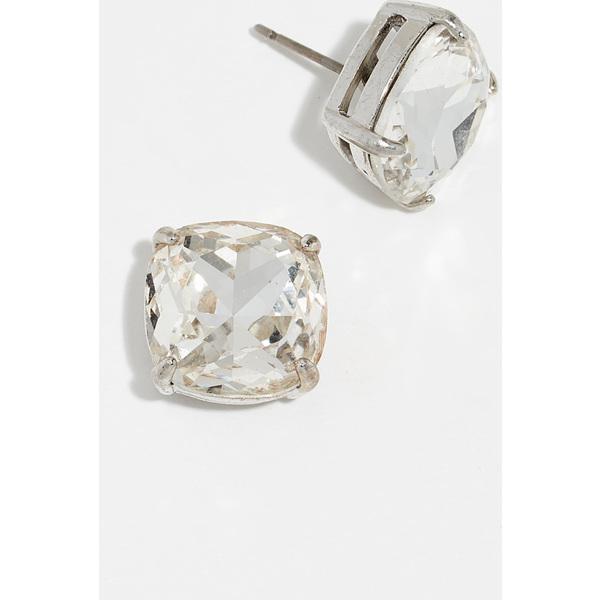 (取寄)ケイトスペード スモール スクエア スタッズ ピアス Kate Spade New York Small Square Stud Earrings Clear Silver
